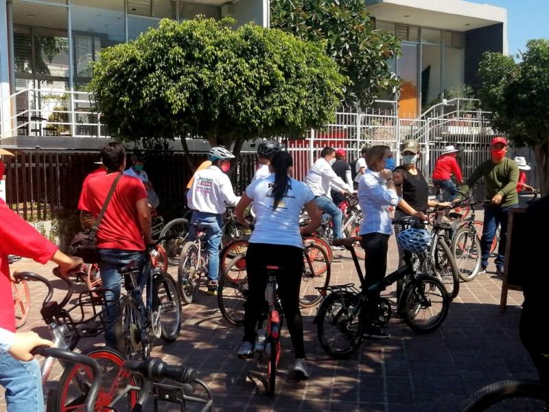 Marún recorre principales circuitos para ciclistas en la ciudad