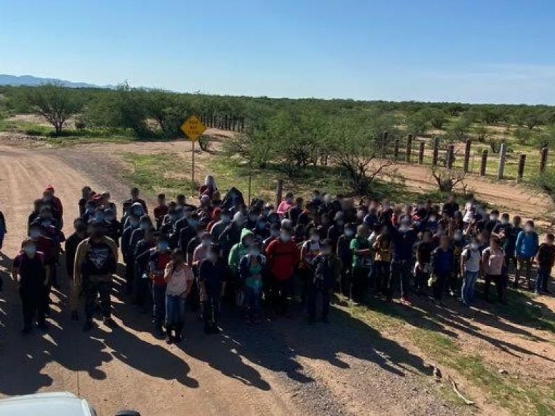 Más de 100 menores migrantes asegurados por patrulla fronteriza