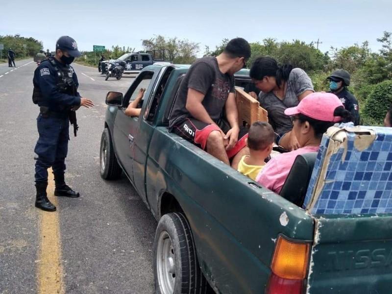Más de 100 personas son dispersadas en Santiago Ixcuintla