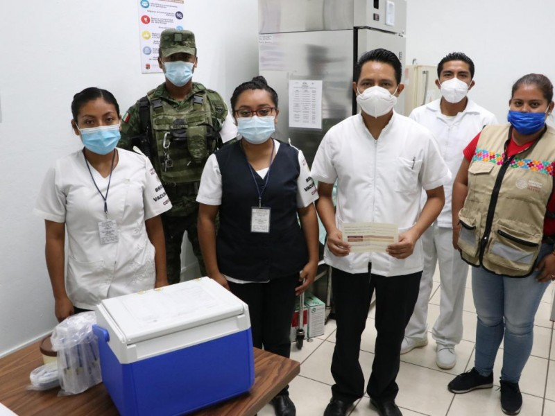 Más de 76 mil vacunas anticovid aplicadas en Chiapas.