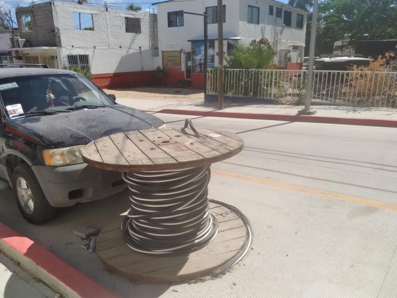 Casi al 95% de avance, obra de la calle M. Doblado