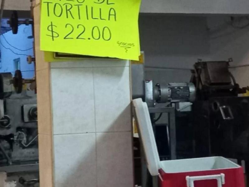 Materia prima e insumos causa incremento en tortilla
