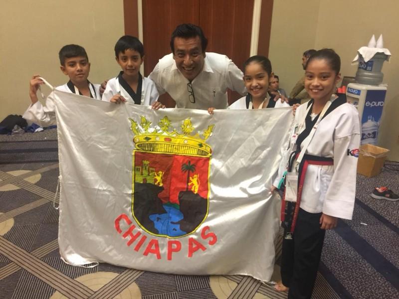 Medalla de oro para deportistas chiapanecos