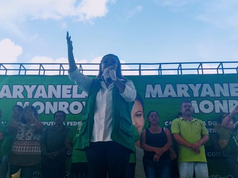 Mediante mensajes candidatos solicitaron a abandonar candidatura;candidata PVEM