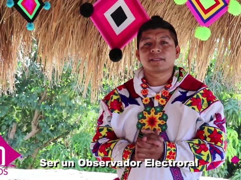 Mediante spot en lengua materna INE convoca Observadores Electorales indígenas