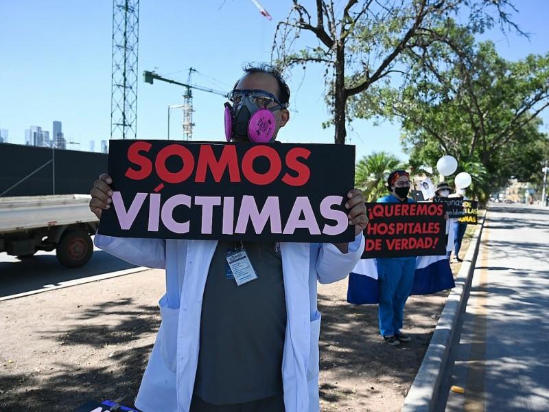 Covid-19: Médicos protestan por mal manejo de pandemia en Honduras