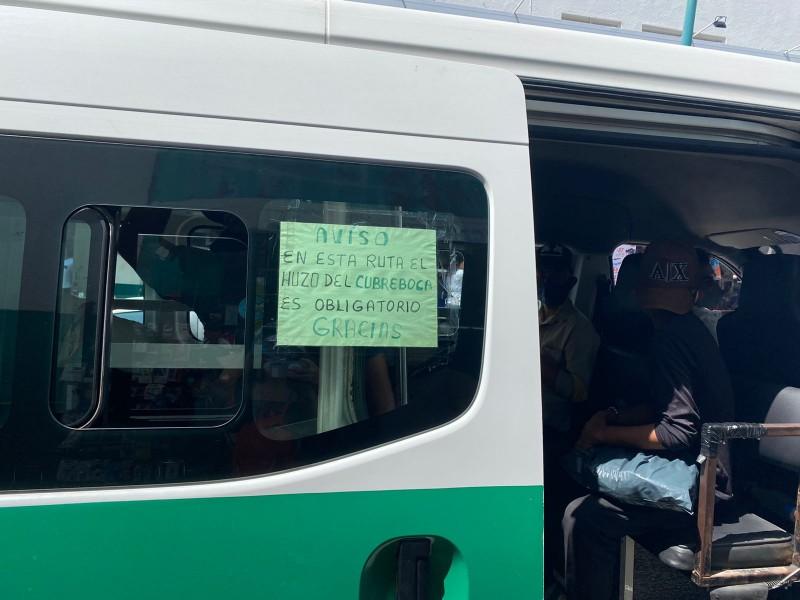 Medidas sanitarias en transporte público, sin aplicarse