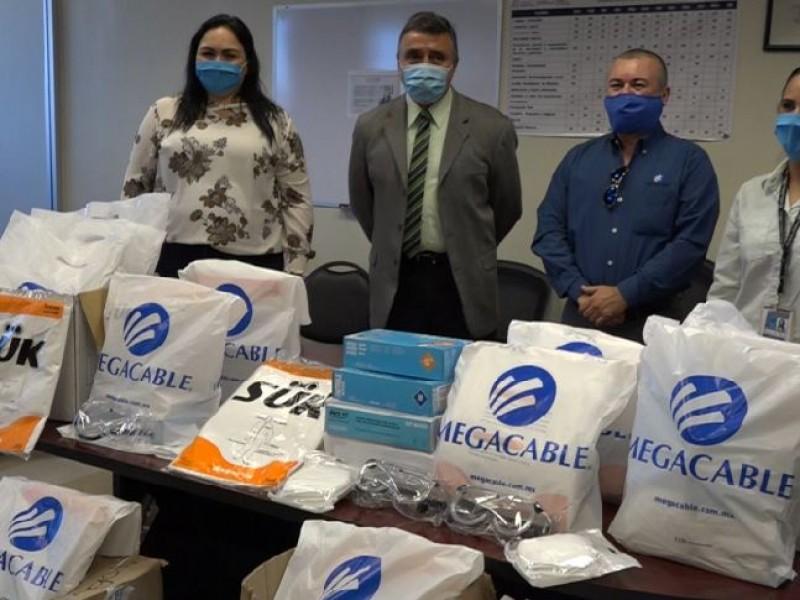 Megacable, apoya a personal de salud del HGO
