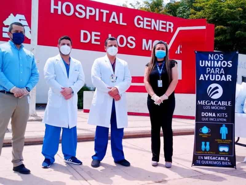 Megacable dona 50 kits de protección al Hospital General LM