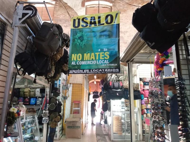 Mercado cerrará a las 4:00 e inician campaña preventiva