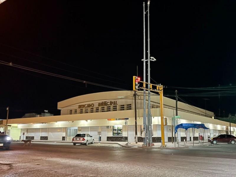 Mercado municipal de Huatabampo presenta un 95% de avance