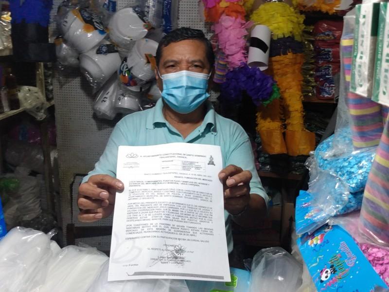 Mercado municipal de Tehuantepec cerrará por 3 días