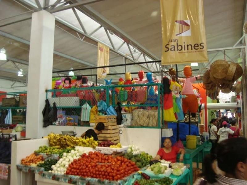 Mercados públicos con bajas ventas