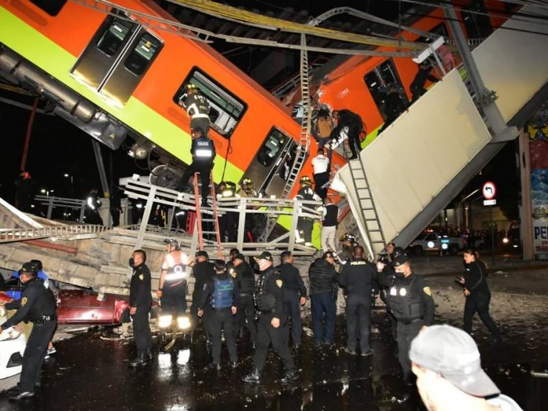 Metro: Colapso en Línea 12 fue por pandeo de vigas