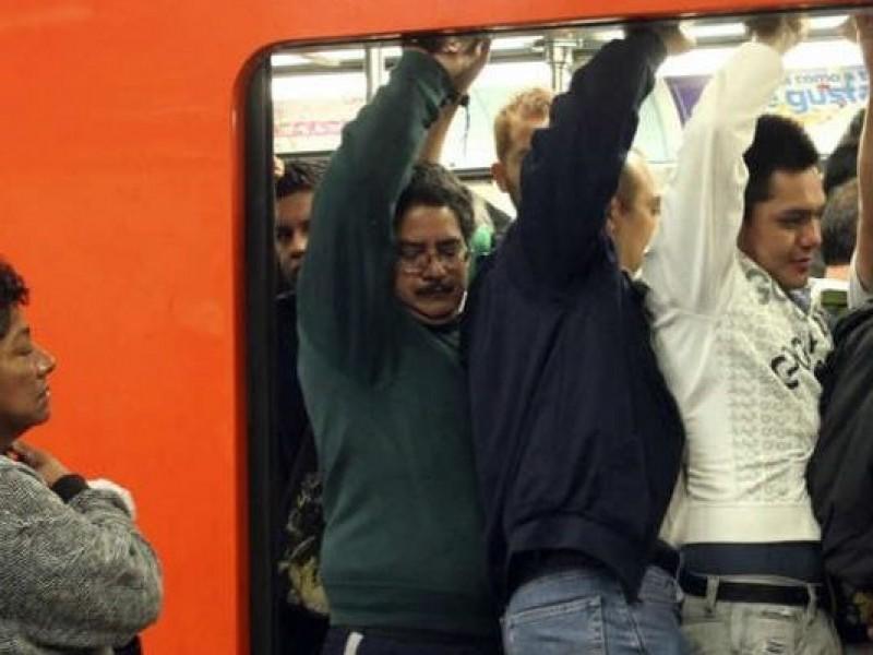 Metro reporta máxima capacidad en todas sus líneas