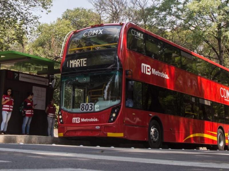 Metrobús realizará cortes en Línea 7