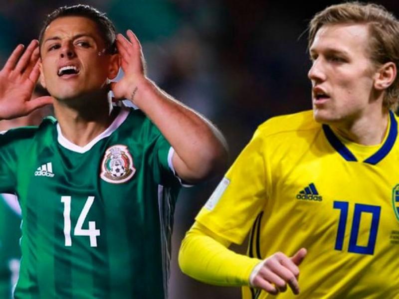 Mexicanos y suecos ponen a rodar el balón