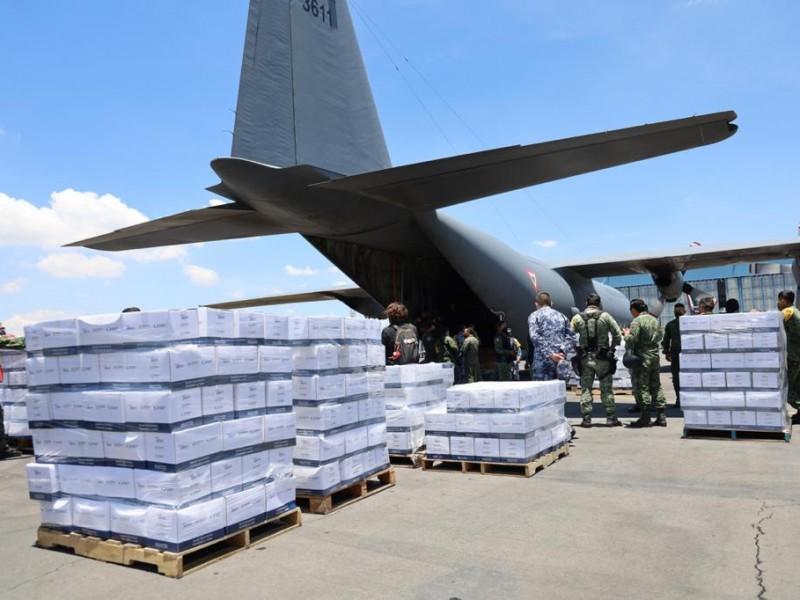 México envía víveres e insumos médicos a Haití