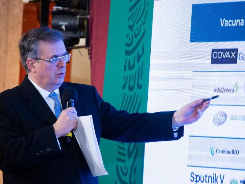 México garantiza 232 millones de vacunas contra Covid-19: Ebrard