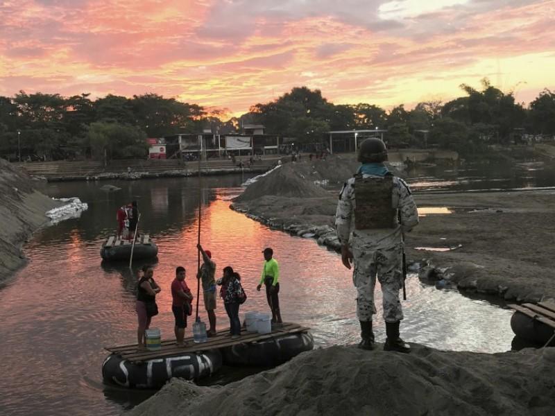 México refuerza a elementos de migración en frontera con Guatemala
