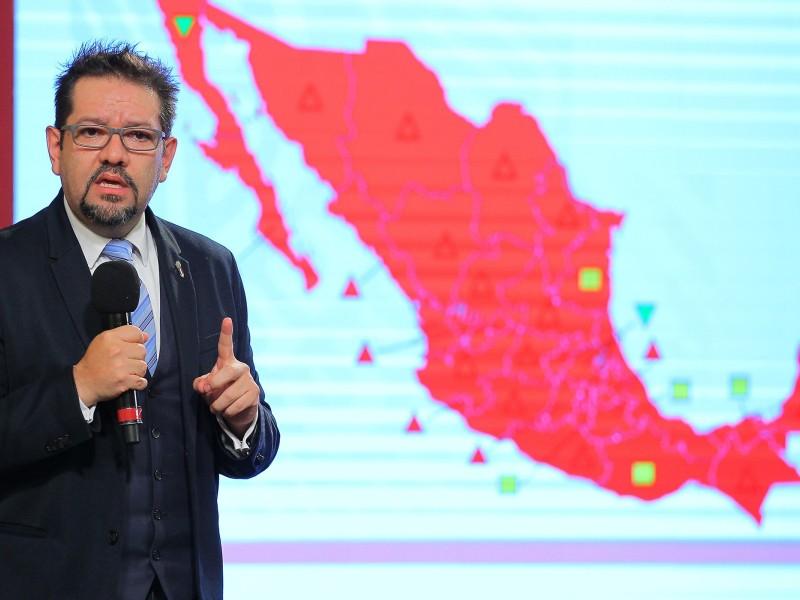 México se viste de rojo por el Covid-19