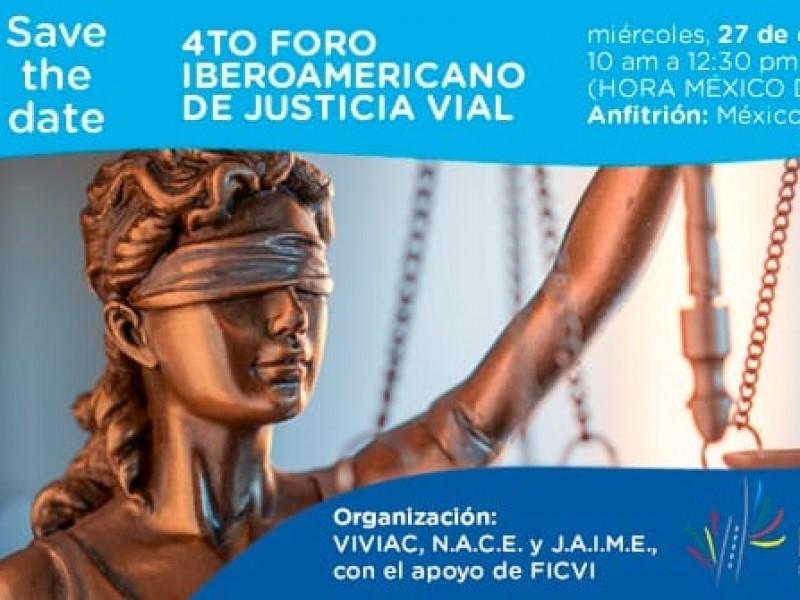 México sede virtual del 4to Foro Iberoamericano de Justicia Vial