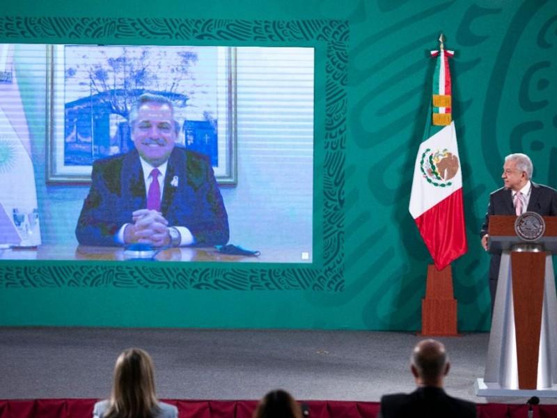México y Argentina celebran trabajo colaborativo para producir vacunas