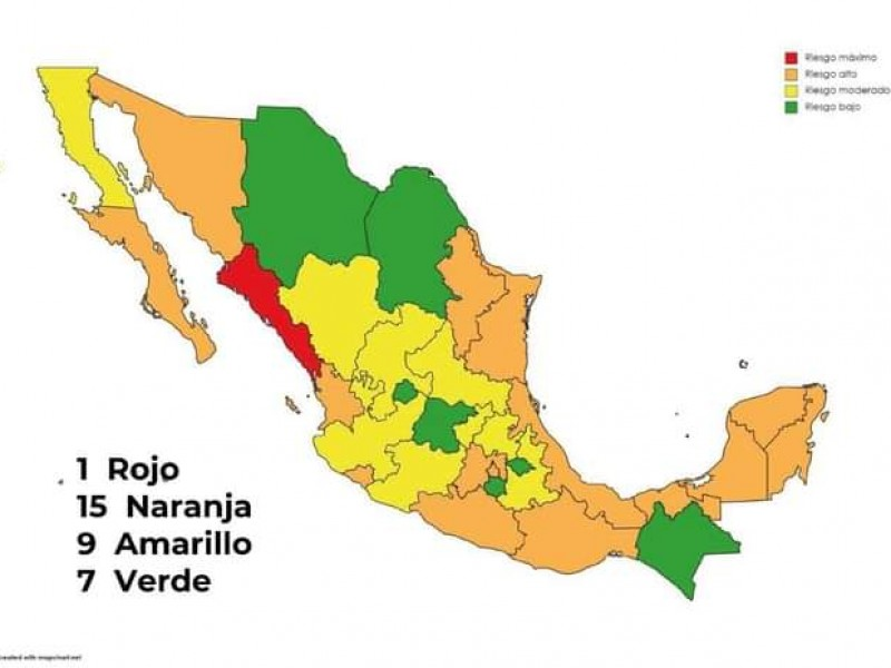 Michoacán regresa a semáforo amarillo