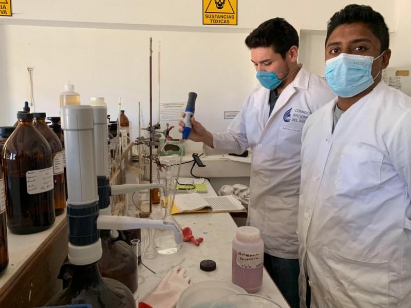 Microalgas cambian color de laguna en Chichimequillas