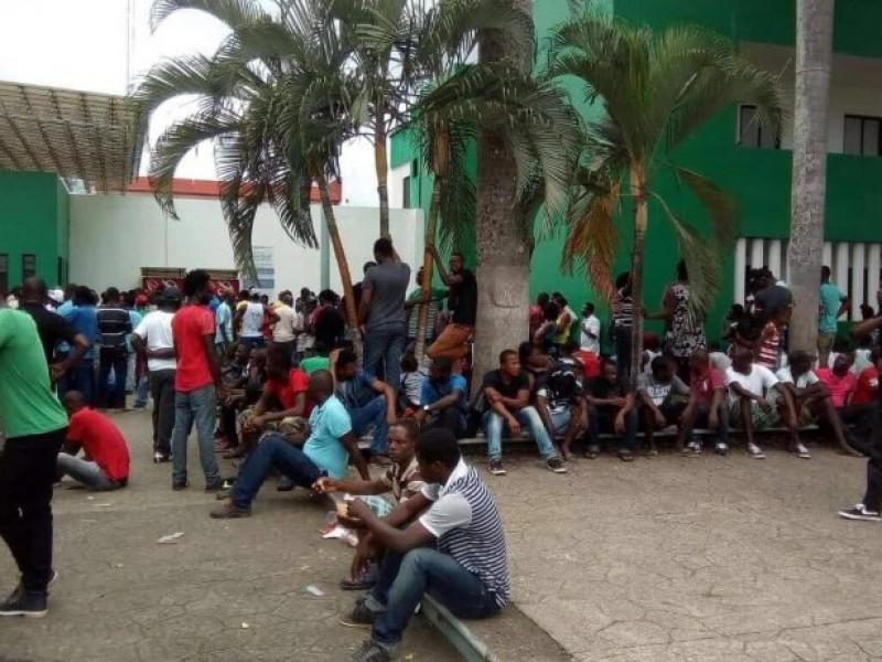Migrantes africanos protestan en Tapachula