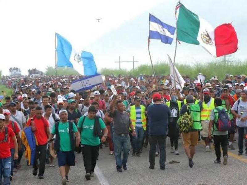 Migrantes agradecen al gobierno mexicano facilidades para transitar