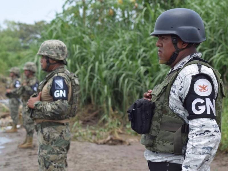 Migrantes intentan ingresar a Chiapas; la Guardia Nacional lo impide