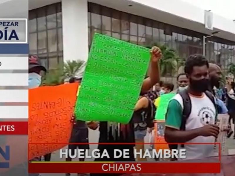 Migrantes llaman a huelga de hambre en Chiapas