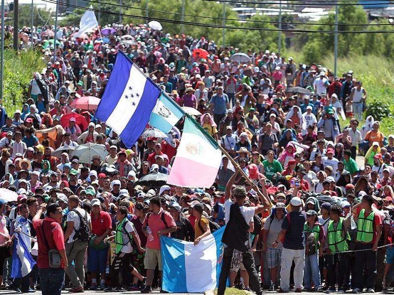 Migrantes llegan a albergue en Irapuato