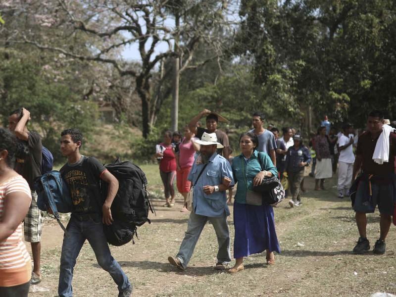 Migrantes llegan a Matías Romero, Oaxaca