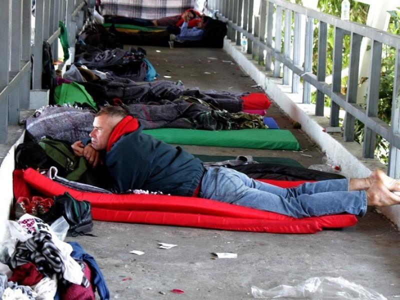 Migrantes se quedan estancados en la CDMX