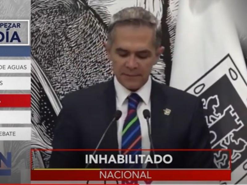 Miguel Ángel Mancera alista impugnación por inhabilitación