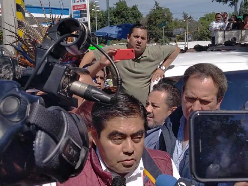Miguel Barbosa, precandidato de MORENA al gobierno estatal