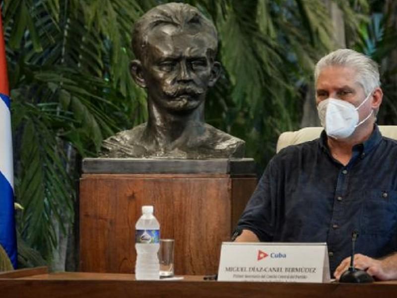 Miguel Díaz-Canel cuestiona protestas en Cuba