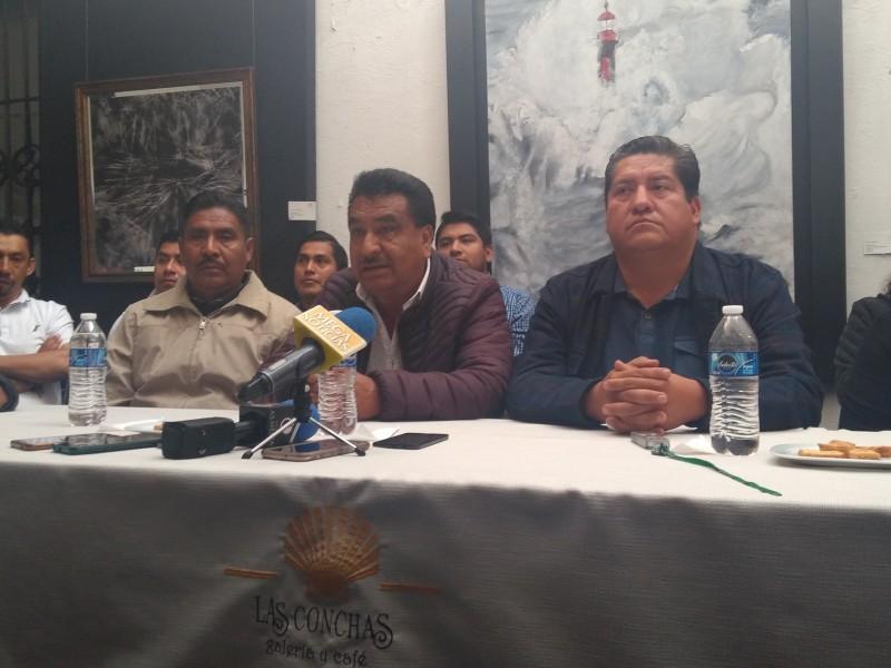 Militantes del PRD a favor de Miguel Barbosa