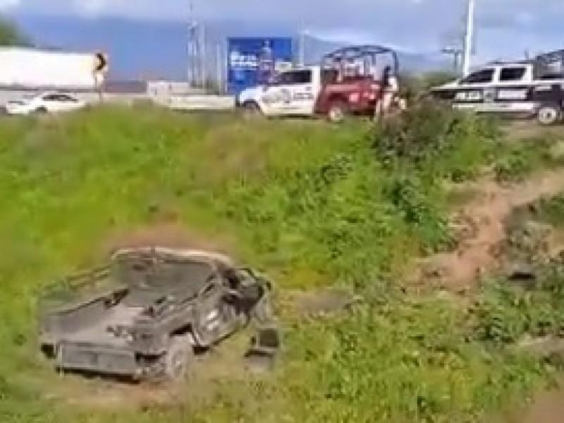 Militar pierde la vida tras volcadura en la México-Puebla