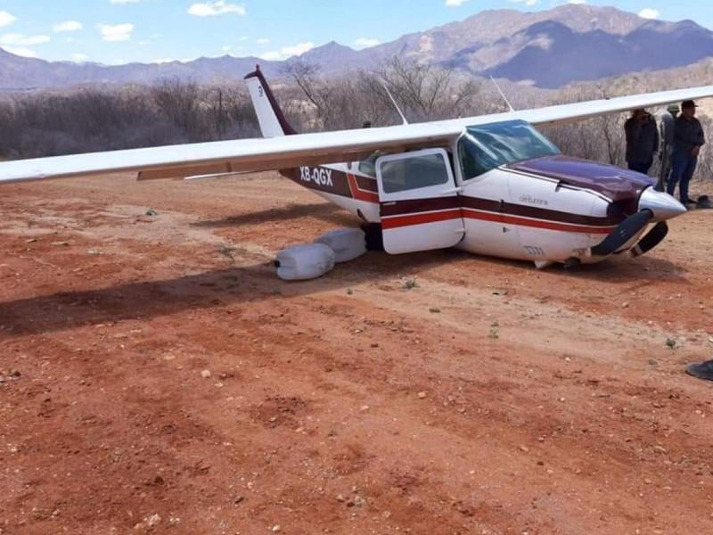 Militares aseguran cocaína y una avioneta en Durango