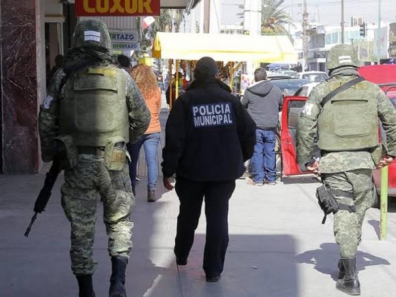 Militares y elementos policiacos vigilarán en temporada decembrina