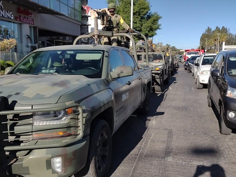 Militares y Guardia Nacional refuerzan seguridad en zona metropolitana