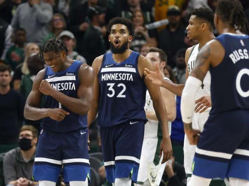 Minnesota supera 40 puntos de Antetokounmpo y ganan