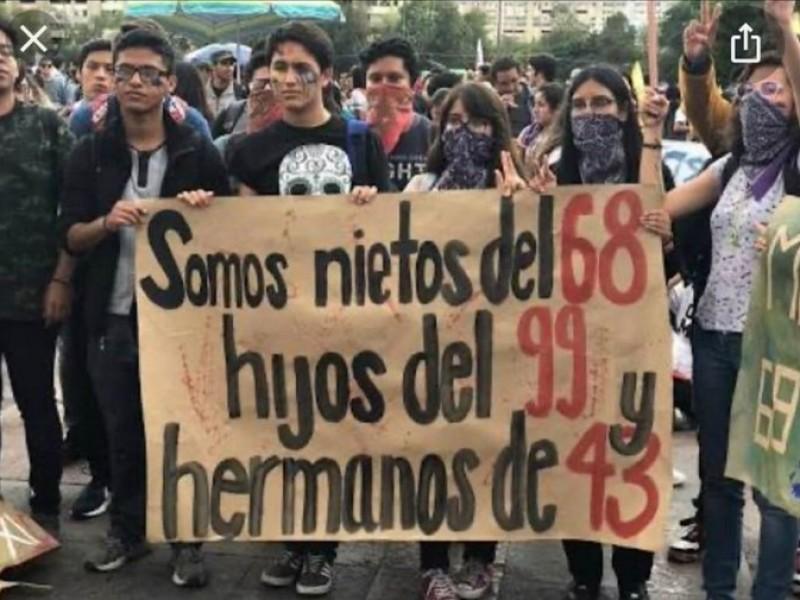 Mitin, a 52 años de la masacre en Tlatelolco