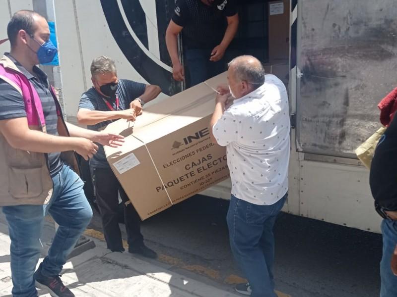 Modulo del INE recibe material electoral no custodiado