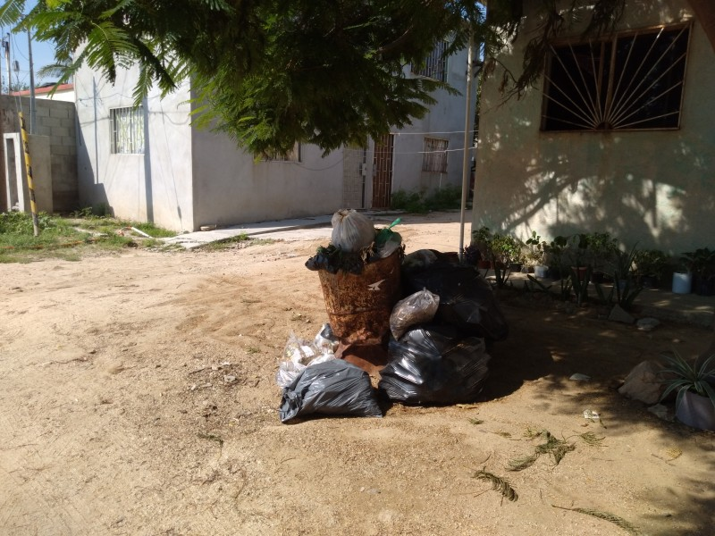 Molesta a ciudadanos falta de recolección de basura