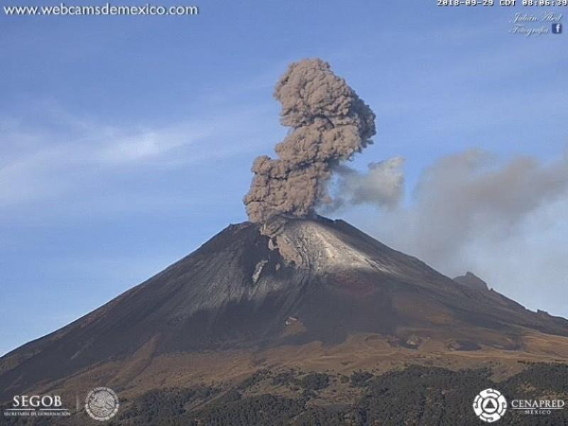 Monitorean posible caída de cenizas volcánicas en CDMX