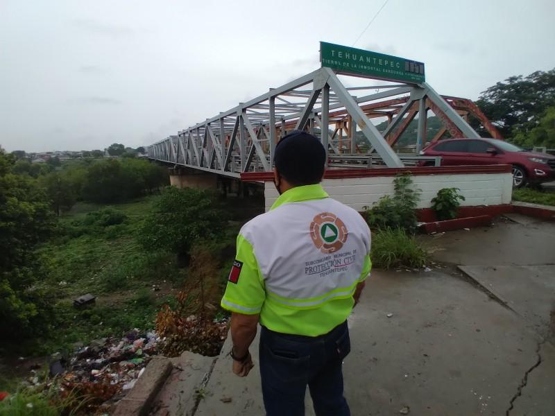 Monitorean río Tehuantepec, ante incremento de la presa Benito Juárez